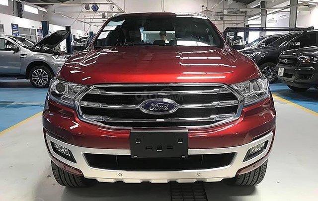 Bán xe Ford Everest Titanium 2.0L 4x2 AT sản xuất năm 2019, màu đỏ, nhập khẩu0