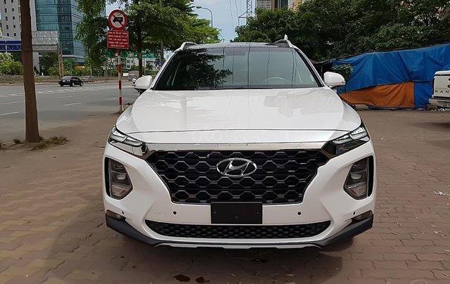 Bán Hyundai Santa Fe 2.2 HTRAC năm sản xuất 2019, màu trắng2