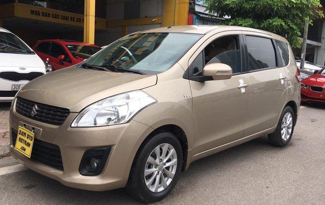 Bán Suzuki Ertiga 1.4AT sản xuất năm 2015, màu ghi vàng, xe nhập12