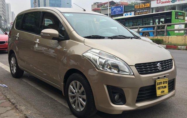 Bán Suzuki Ertiga 1.4AT sản xuất năm 2015, màu ghi vàng, xe nhập2