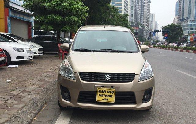 Bán Suzuki Ertiga 1.4AT sản xuất năm 2015, màu ghi vàng, xe nhập0