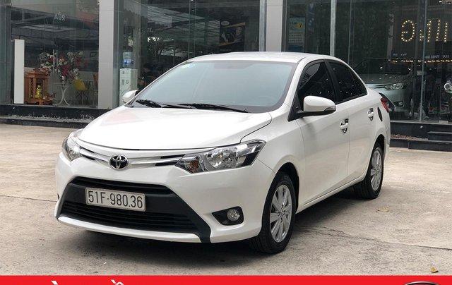 Cần bán Toyota Vios E 1.5 MT 2016, số sàn, màu trắng0