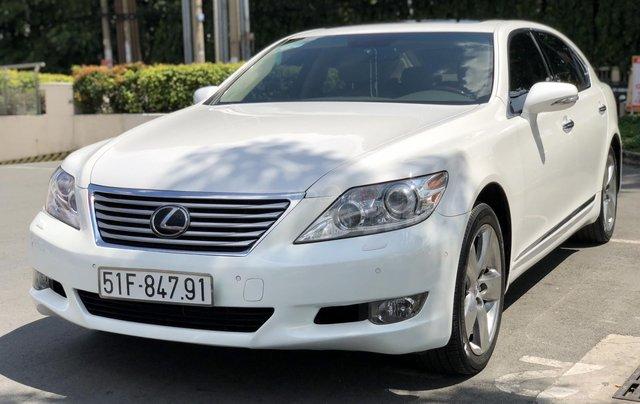 Bán xe lexus LS460L sản xuất 2010 màu trắng, 5 ghế có matxa, rada, nâng hạ gầm7