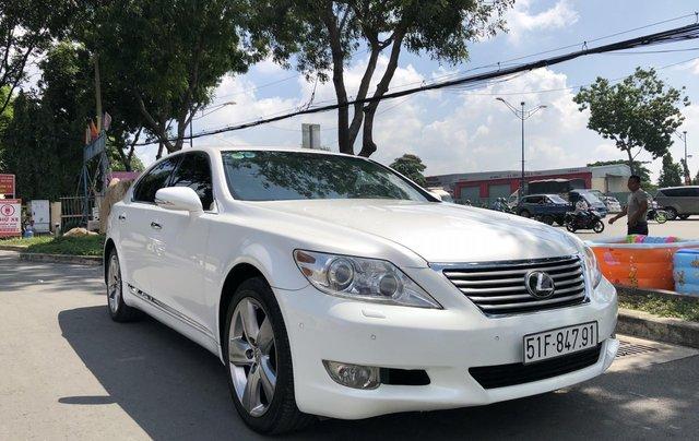 Bán xe lexus LS460L sản xuất 2010 màu trắng, 5 ghế có matxa, rada, nâng hạ gầm8