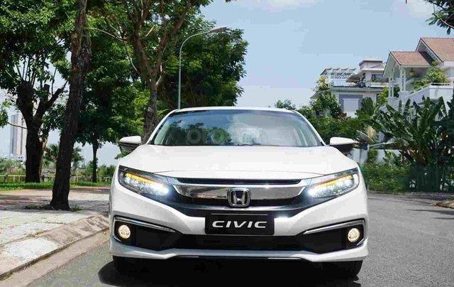 Bán xe Honda Civic G trắng 2019, Giá cực tốt, vay ngân hàng bao đậu, tặng tiền và phụ kiện khủng0