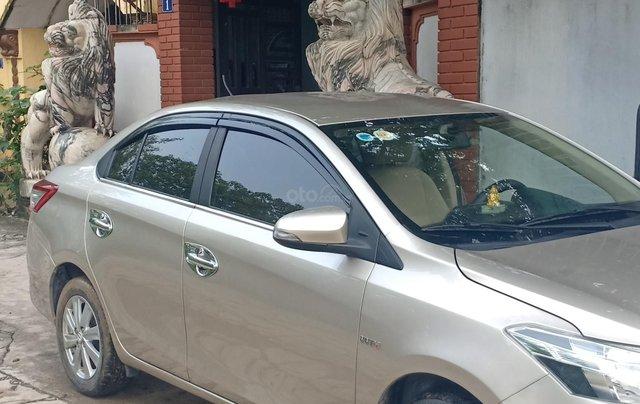 Bán Toyota Vios 1.5E 2016, màu vàng, giá 433tr. LH Anh Tuấn - SĐT 09666683480
