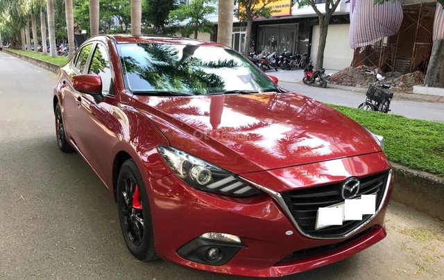 Cần bán Mazda 3 đời 2016, màu đỏ xe gia đình sử dụng ít cần bán lại 570 triệu2