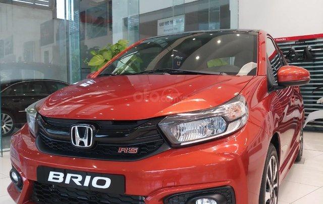 Honda Mỹ Đình bán Honda Brio OP1 màu cam nóc đen năm 2020 nhập khẩu, giá tốt1