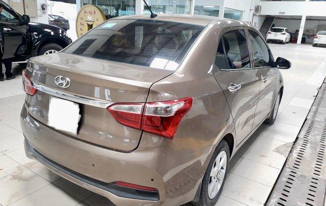 Hãng bán i10 sedan 1.2AT 2018, màu nâu, đúng chất, giá TL, hỗ trợ góp1