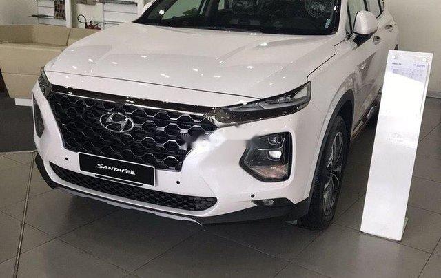 Cần bán xe Hyundai Santa Fe đời 2019, màu trắng0