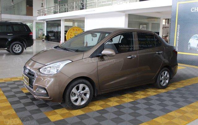 Bán Hyundai Grand i10 1.2AT sản xuất năm 2018, màu nâu0