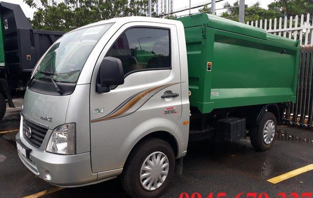 Xe chở rác Tata 990Kg thùng 4 khối máy dầu giá rẻ, hỗ trợ trả góp1