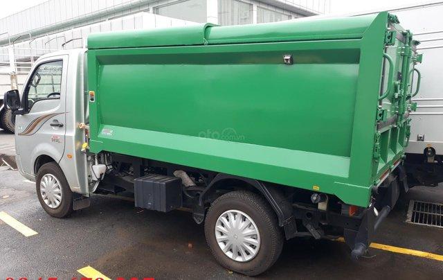 Xe chở rác Tata 990Kg thùng 4 khối máy dầu giá rẻ, hỗ trợ trả góp2