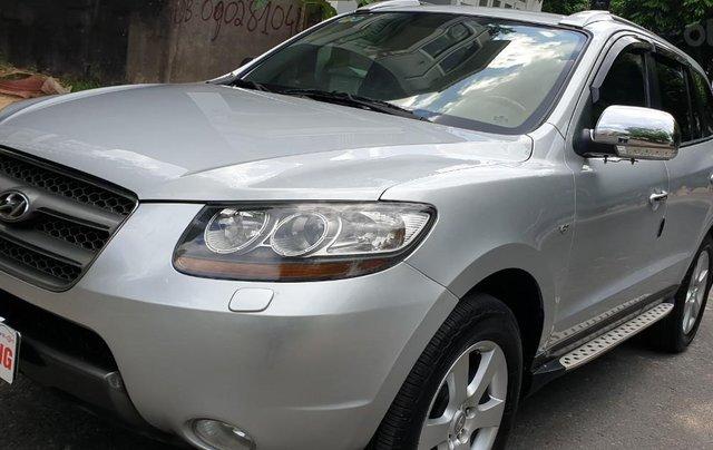 Bán Hyundai Santafe SLX máy dầu 2.0, số tự động, nhập khẩu, đời T12/2009, màu bạc, mới 80%0