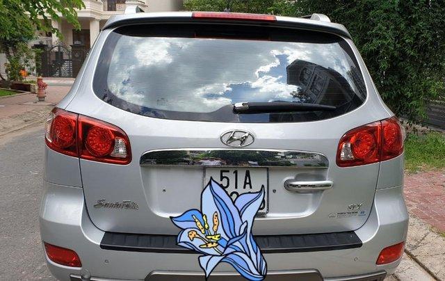 Bán Hyundai Santafe SLX máy dầu 2.0, số tự động, nhập khẩu, đời T12/2009, màu bạc, mới 80%5