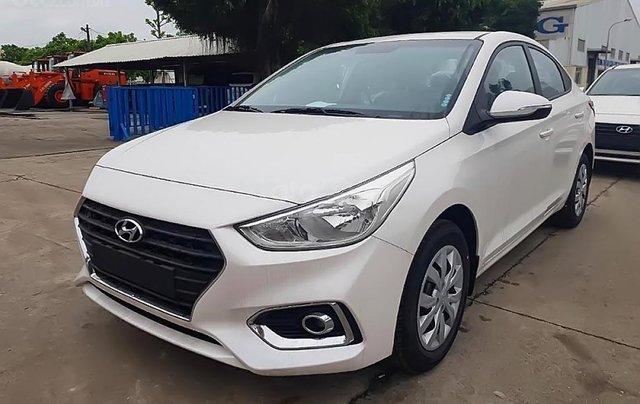 Hyundai Tây Ninh bán Hyundai Accent 1.4 MT Base đời 2019, màu trắng2