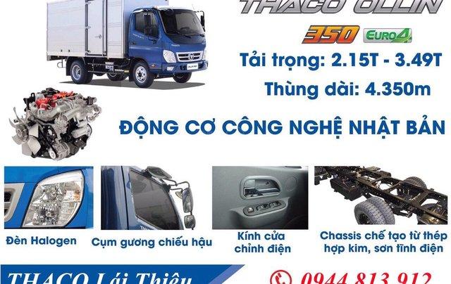 [ Thaco Lái Thiêu ] Bán xe tải Ollin 3,5 tấn, hỗ trợ trả góp 70%. LH 0938.933.7536