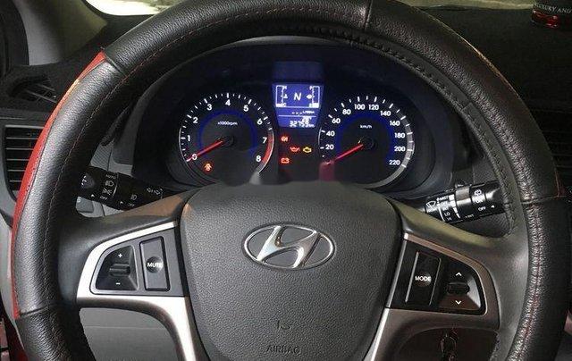 Gia đình bán Hyundai Accent 2015, màu đỏ, nhập khẩu 2