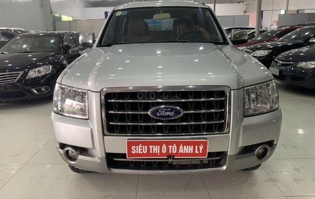Cần bán Ford Everest 2.5MT đời 2008, màu bạc, 355tr0