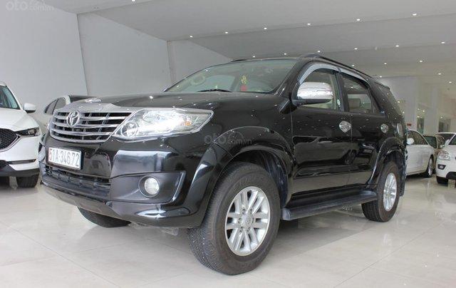 Cần bán xe Toyota Fortuner 2.5G MT sx 2012, màu đen, ghế da, biển SG, giá TL1