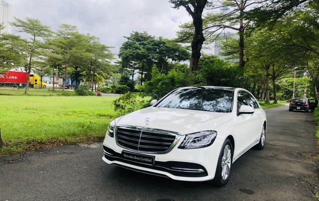 Thanh lý S450L 2018 màu trắng siêu lướt 3.800km xe chở chủ tịch Mercedes0