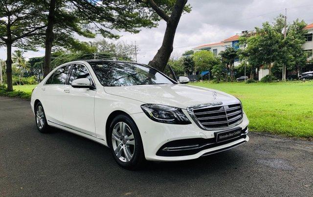 Thanh lý S450L 2018 màu trắng siêu lướt 3.800km xe chở chủ tịch Mercedes2