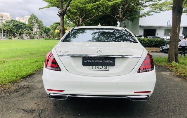 Thanh lý S450L 2018 màu trắng siêu lướt 3.800km xe chở chủ tịch Mercedes4
