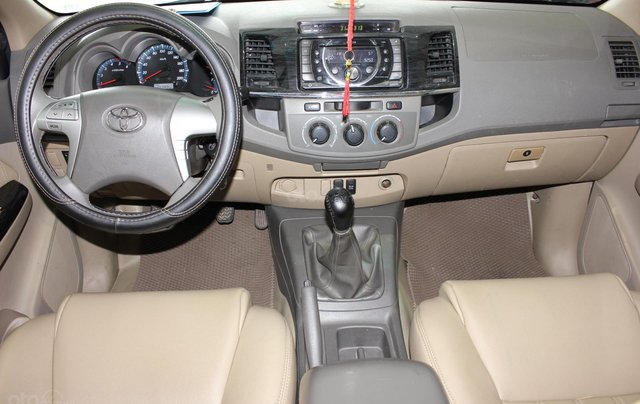 Cần bán xe Toyota Fortuner 2.5G MT sx 2012, màu đen, ghế da, biển SG, giá TL3