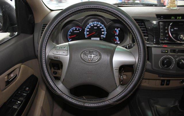 Cần bán xe Toyota Fortuner 2.5G MT sx 2012, màu đen, ghế da, biển SG, giá TL4