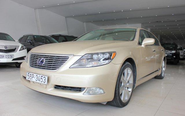 Cần bán xe Lexus LS 600HL 5.0 xăng điện 2008, màu vàng, nhập khẩu0