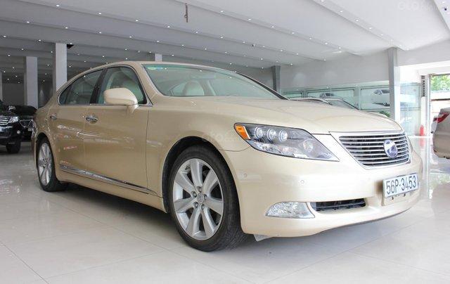 Cần bán xe Lexus LS 600HL 5.0 xăng điện 2008, màu vàng, nhập khẩu2