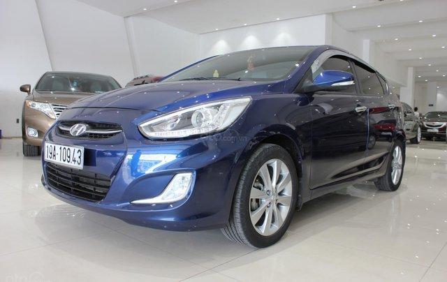 Bán Hyundai Accent 1.4 Hatchback sản xuất 2015, màu xanh lam, xe nhập0