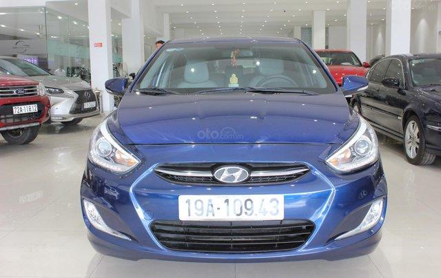 Bán Hyundai Accent 1.4 Hatchback sản xuất 2015, màu xanh lam, xe nhập1