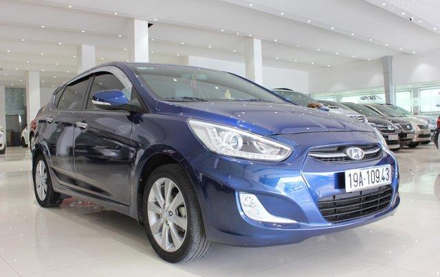 Bán Hyundai Accent 1.4 Hatchback sản xuất 2015, màu xanh lam, xe nhập2