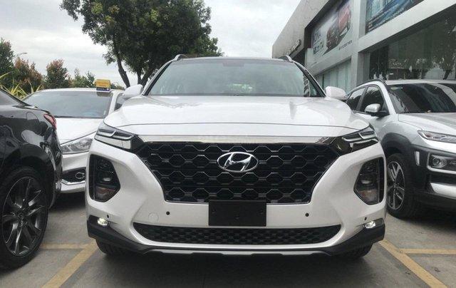 Hyundai Santa Fe 2.4AT đặc biệt sản xuất năm 2019, màu trắng0