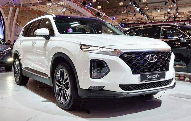 Hyundai Santa Fe 2.4AT đặc biệt sản xuất năm 2019, màu trắng1