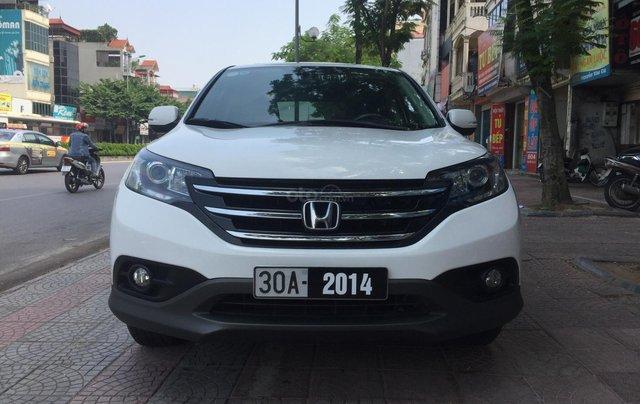 Cần bán xe Honda CR V 2.4 đời 2014, màu trắng0