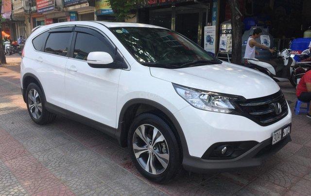 Cần bán xe Honda CR V 2.4 đời 2014, màu trắng1