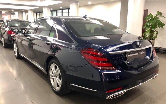 Bán Mercedes S450 màu xanh cavansite, nội thất kem 20191