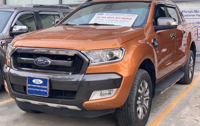 Ford Ranger Wildtrak 3.2L 4x4 đời 2015 màu cam, giá thương lượng, hotline 09012 678 551