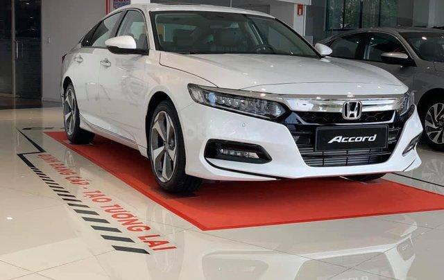 [Đồng Nai] Honda Accord 2020 màu trắng giá 1 tỷ 329 triệu, nhiều ưu đãi, giao ngay, hỗ trợ vay 85%0