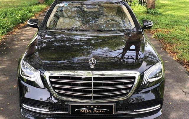 Bán xe Mercedes S450 Luxury màu đen đời 2019 siêu mới - dòng xe siêu sang, trả trước 20% nhận xe ngay2