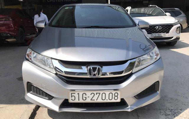 Bán Honda City 1.5MT màu bạc, số sàn, sản xuất 2017, biển Sài Gòn0