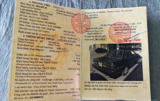 Bán Toyota Camry đời 1987, nhập khẩu4