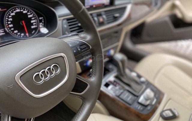Bán Audi A6 2015 đăng ký 2017 màu đen nội thất kem  xe đẹp, không lỗi bao check tại hãng6