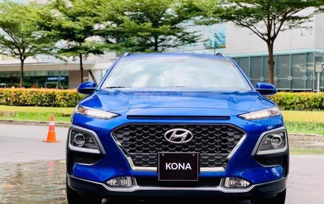 Bán ô tô Hyundai Kona đời 2019, màu xanh lam nhập khẩu nguyên chiếc giá 694 triệu đồng1