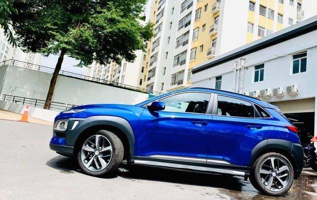 Bán ô tô Hyundai Kona đời 2019, màu xanh lam nhập khẩu nguyên chiếc giá 694 triệu đồng5