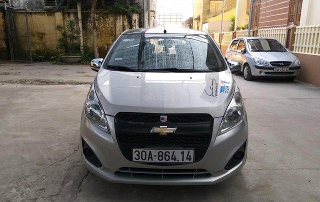 Bán Chevrolet Spark LS năm sản xuất 2015, màu bạc0