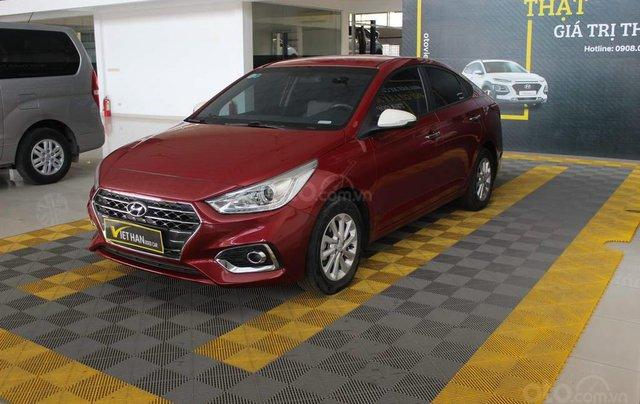 Hyundai Accent 1.4AT 2018, xe màu đỏ siêu đẹp, có kiểm định chất lượng0