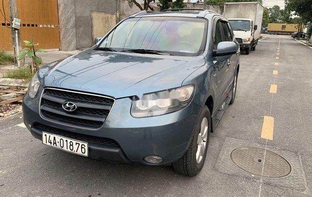 Bán xe Hyundai Santa Fe 2007, màu xanh lam, nhập khẩu chính hãng5